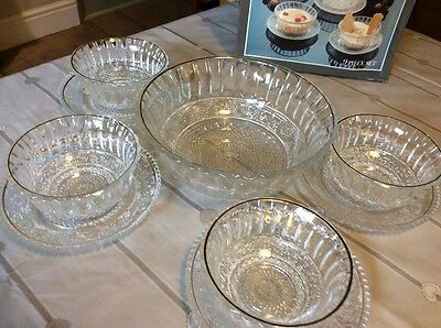 Regency collection 9 piece dessert glass set