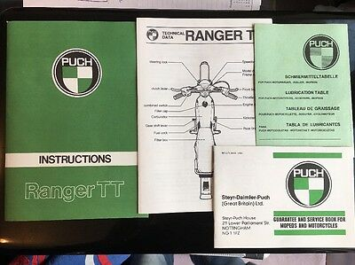 PUCH Ranger TT Owners Manual, Service Book (unused) '74 Approx Printed Austria