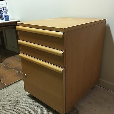 3 drawer mobile filing cabinet