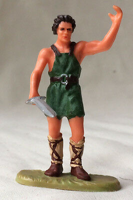 Elastolin medieval smith or worker - middle ages, peasant blacksmith