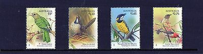 2009 Australian Songbirds Set Of 4 Mint Never Hinged, Clean & Fresh