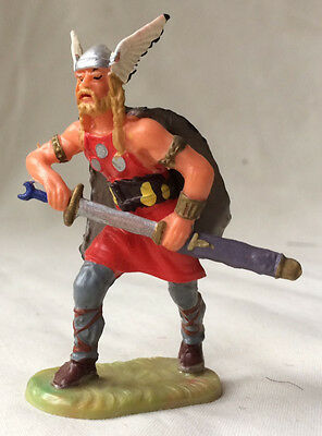Elastolin Viking Chieftain - middle ages medieval toy soldier