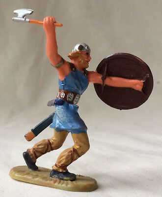 Elastolin Viking Warrior with axe - saxon norman medieval middle ages