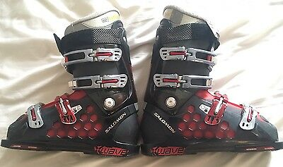 Salomon X Wave Size 8 Ski Boots V Good Cond Salomon Bag