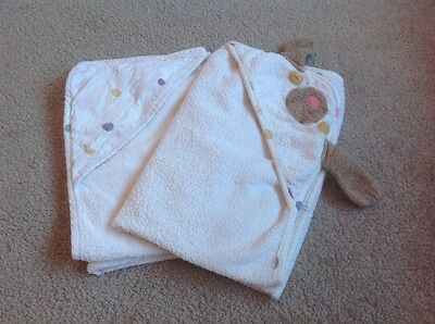 Joules Hooded Baby Towels x2