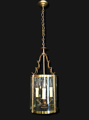 Stunning Huge Heavy French Bronze Antique 4 Light Ceiling Lantern