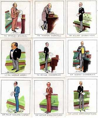 CARRERAS LTD. - SCARCE SET OF 50 NOTABLE M.P.'S  LARGE CARDS - 1929 - EXC. (Ge)