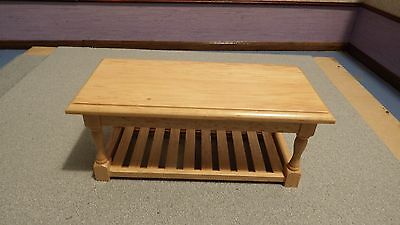 dolls house pine country kitchen  work table 1.12th