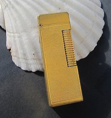Vintage 1960's Dunhill Rollagas Switzerland USA Gold Plated Butane Lighter