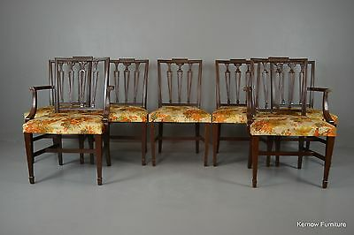 7 Repro Sheraton Style Dining Chairs