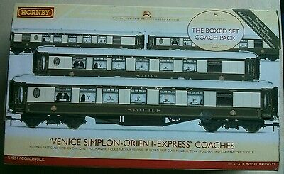 Hornby R4254 Orient Express  Pullman 4 Coach Set with Lights