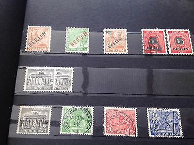 Germany Bundespost Berlin nhm postfrisch and used stamps in stockbook