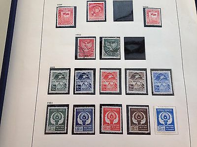 Indonesia 2x collection in Davo between 1948 - 1970 mint & used also blocks