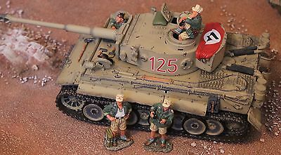 King And Country Ww11 Gemans Afrika Korps Ak039 Tiger Tank Toy Soldiers Britains