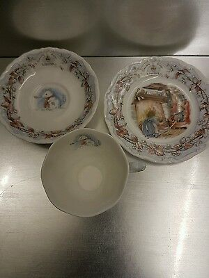 Royal Doulton Trio Brambly Hedge Winter Cup Saucer And Side Plate