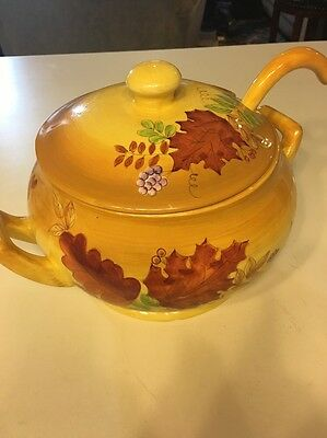 Laurie Gates Ware Soup Tureen Fall Autumn Leaves Berries
