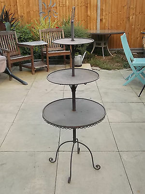 3 Tier Metal Display Stand  ~  Cakes ~ Plants ~ Shop ~ Market Stall ~ Giftware