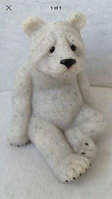 Quarry Critters Little Bud... Bear Figurine..Boxed And Collectable