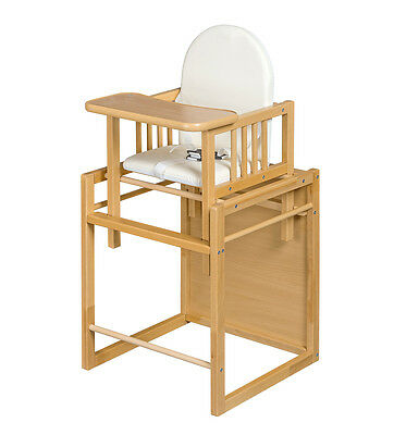 Baby 2 In 1  Child Toddler High Chair + Table + Feeding Chair Wooden