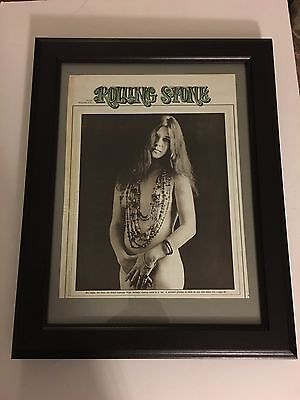 "JANIS JOPLIN 1972 Original & Rare 11X13"" NUDE Placed In A New 15X19"" Frame"