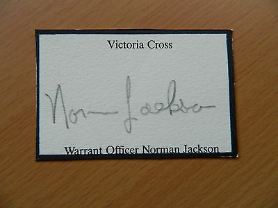 Norman Jackson VC Clipped signature