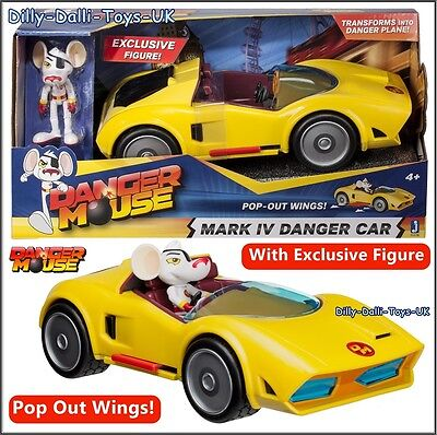 NEW Dangermouse Mark IV Danger Car + Exclusive Mouse Figure Pop Out Plane Wings