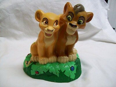 Disney Rubber Lion King Simba Piggy Bank Berk Corp. 1998 in Excellent Condition