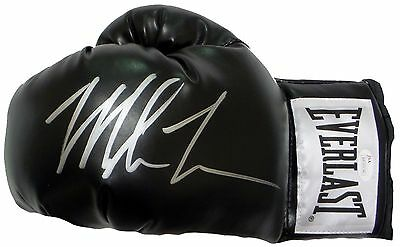 Mike Tyson Signed Autographed Black Boxing Glove JSA Authenticated Left
