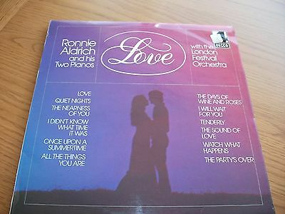 Ronnie Aldrich And His Two Pianos/ Love / With The London Festival Orchestra /lp