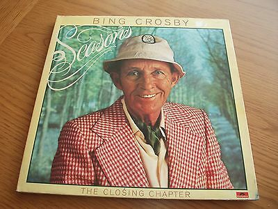 Bing Crosby Seasons The Closing Chapter / Vinyl Lp Record / Ex Vg+