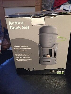 Yellowstone Aurora Cook Set With Spirit Burner Stove Backpack Windshield