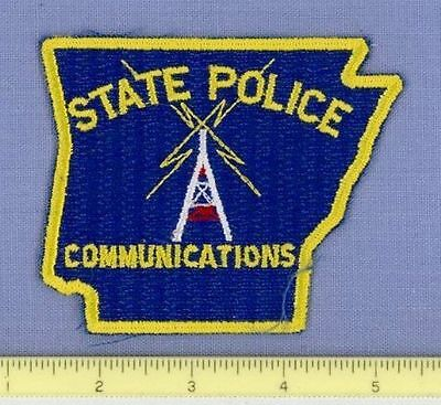 ARKANSAS STATE POLICE 9-1-1 COMMUNICATIONS Police Patch STATE SHAPE RADIO