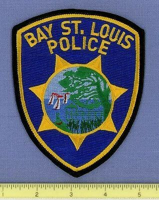 BAY ST LOUIS MISSISSIPPI Sheriff Police Patch PIER WHARF SAILBOAT GULF of MEXICO
