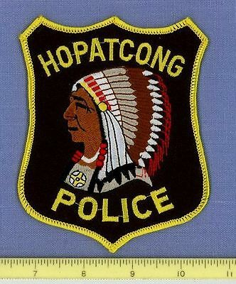 HOPATCONG NEW JERSEY NJ Sheriff Police Patch INDIAN NATIVE AMERICAN
