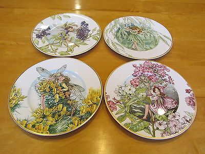 Set of 4 Heinrich Villeroy & Boch Fairies Of The Fields And Flowers Plates
