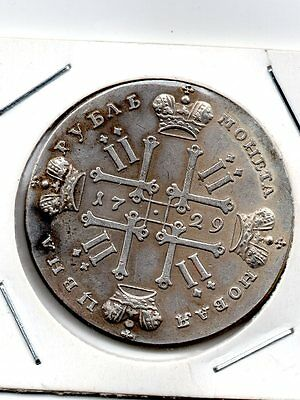 Russie 1 Rouble 1729 Peter Ii