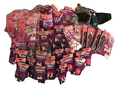 Wholesale Lot NEW Fancy Dress Costumes and Makeup Kits Over 70 Items - Make £££