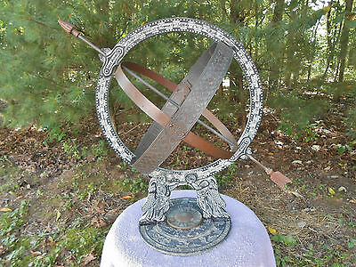 Colonial Greenwich Armillary Sphere Virginia Metalcrafters Zodiac Sundial Angels