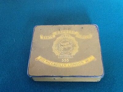 State Express 555 tin (Empty) Stamped DUTY FREE H. M. SHIPS ONLY