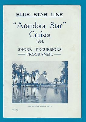 Blue Star Shipping Line 1934 programme, Palestine, Egypt, etc. maps, images #047