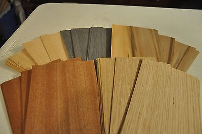 "3 mixed raw wood veneer-Approximately 18 5/""x8/"" sheets of each Total of 54  IC63"