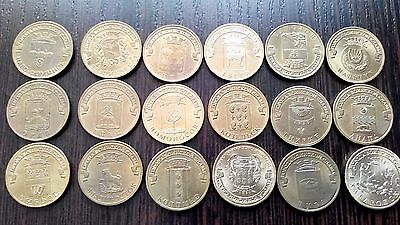 Russia 10 rubles 18 coins all different