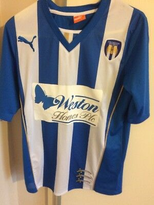 Colchester United Football Shirt 2008 Home. Size Small