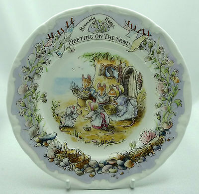 "Royal Doulton Brambly Hedge Meeting on the Sand  6"" Plate Boxed Mint Condition"