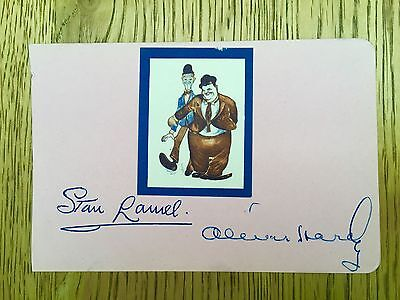 Laurel and Hardy vintage Genuine Signed album page