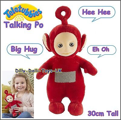 Teletubbies TALKING PO 30cm Soft Toy With Sound Talks Age 18M+ Red Tubby NEW