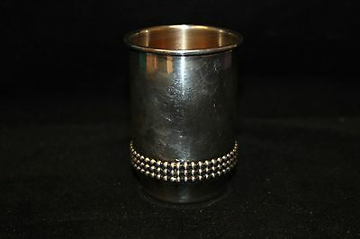 Bier Sterling Silver Gilt Lined Cup Made in Israel