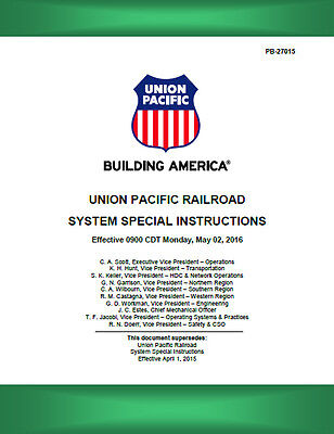 Union Pacific SPECIAL SYSTEM INSTRUCTIONS #6 MAY 02 2016 UPRR ETT LATEST!