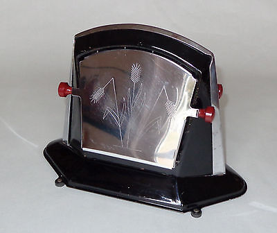 Rare Vintage Antique Toaster with Pretty Wheat Design