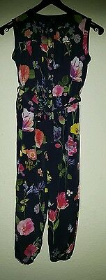 M&S Girls floral jumpsuit 5-6years